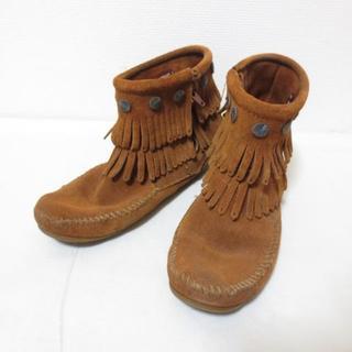 ミネトンカ(Minnetonka)のミネトンカ ブラウン ショートブーツ J163(ブーツ)