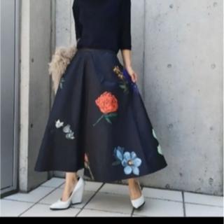 DEUXIEME CLASSE - 美品!Ameri VINTAGE アマンダフレアスカート ブラック