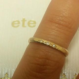 エテ(ete)のete K18 ダイヤ付きピンキーリング(リング(指輪))