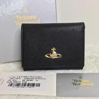 Vivienne Westwood - Vivienne Westwood 新品 二つ折り財布 レザー ブラック