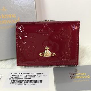 Vivienne Westwood - Vivienne Westwood 新品上質レザー がま口 三つ折り財布 レッド