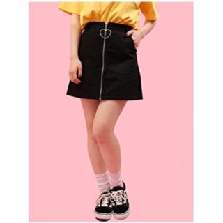 WEGO - ハートジップスカート
