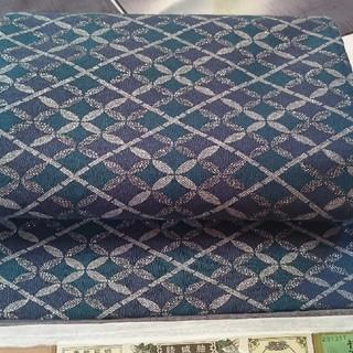 七宝繋ぎ きょうと染め 洒落袋帯