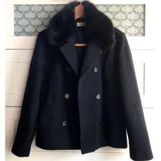 シマムラ(しまむら)のしまむら☆ラクーンファー付きPコート ブラック(ピーコート)