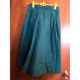 ジーユー(GU)のGU タックフレアスカート(ひざ丈スカート)