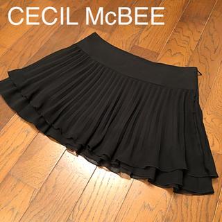 セシルマクビー(CECIL McBEE)のCECIL McBEE セシルマクビー プリーツ ミニスカート(ミニスカート)