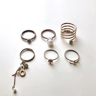 フォーエバートゥエンティーワン(FOREVER 21)の指輪6点セット(リング(指輪))