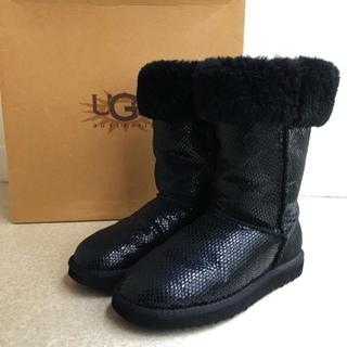 アグ(UGG)の最後1時間特別価格17800❤️美品❤️UGG ロングブーツ 黒 24cm(ブーツ)