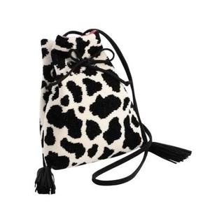 FEILER - 【クーポン最終日お値下げ!】ラブラリー ホルスタイン 巾着ショルダー 巾着バッグ