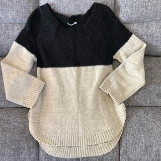 ELLE - エル ELLE バイカラー セーター ニット 毛混