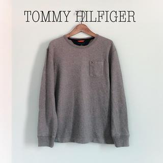 TOMMY HILFIGER - TOMMY HILFIGER◆ニットライク トレーナー クルーネック カットソー