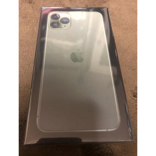 アイフォーン(iPhone)の新品未開封 iPhone 11 Pro Max 256G ミッドナイトグリーン(スマートフォン本体)