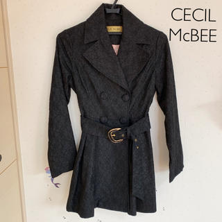 CECIL McBEE - CECIL McBEE ★ トレンチコート 黒 総レース