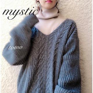 mystic - 最新作❁ミスティック Vケーブルニット
