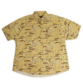 Columbia - ノースリバー ヴィンテージ フィッシングシャツ  総柄 釣り 古着 アメリカ古着