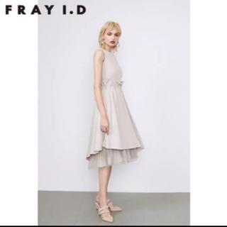 FRAY I.D - 新品未使用 フレイアイディータックフリルチュールドレス