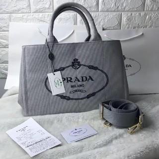 PRADA - PRADAカナパMグレー
