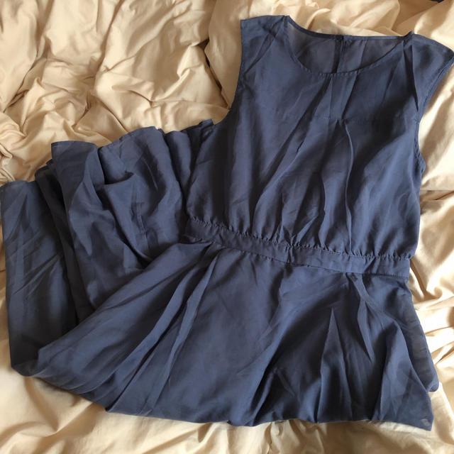 PAGEBOY(ページボーイ)のくすみカラー ブルー ワンピース レディースのワンピース(ひざ丈ワンピース)の商品写真