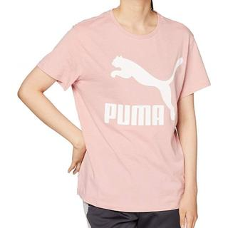プーマ(PUMA)のプーマ 半袖Tシャツ CLASSICS ビックロゴ レディース Mサイズ ピンク(Tシャツ(半袖/袖なし))