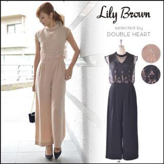 Lily Brown - リリーブラウン オーガンジー刺繍コンビネゾン