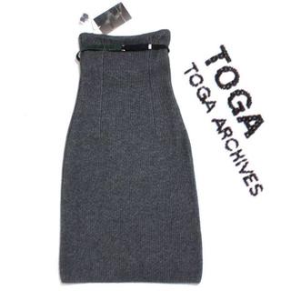 トーガ(TOGA)の新品 TOGA Rib knit skirt ハイウエスト リブニットスカート (その他)
