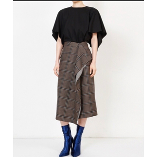 LE CIEL BLEU チェックデザインスカート
