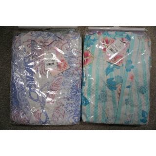 新品 浴衣 2着セット まとめ売り 夏物 白 ミントグリーン 120㎝ 双子