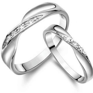 ※即日発送☞婚約指輪ギフト♥ジルコニア※波形リング★指輪シルバー925(リング(指輪))