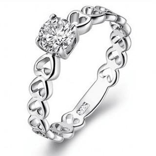 ※即日発送☞婚約指輪ギフト♥ジルコニア※ハ―トリング★指輪シルバー925 (リング(指輪))