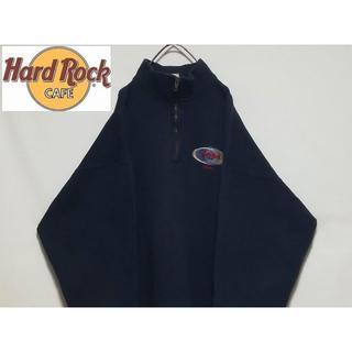 Champion - HARD ROCK CAFE ハーフジップ プルオーバーパーカー