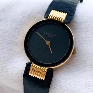 クリスチャンディオール(Christian Dior)の【稼働品】ディオール◆ブラックムーン レディースウォッチ(腕時計)