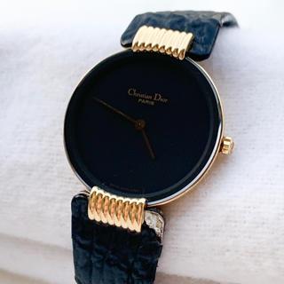 クリスチャンディオール(Christian Dior)の【稼働品】【良品】ディオール◆ブラックムーン レディースウォッチ②(腕時計)