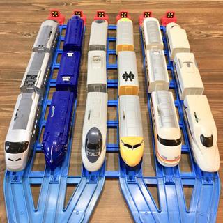トミー(TOMMY)のプラレール 大量 6編成 18両+レールセット(電車のおもちゃ/車)