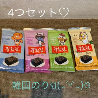 韓国で購入!韓国のり×カカオフレンズ  限定コラボ うすしお 味付きのり