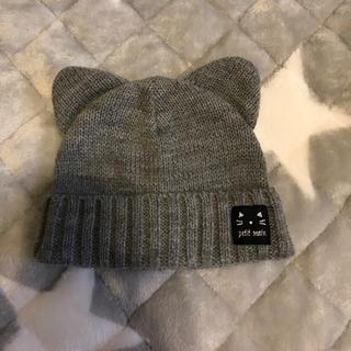 プティマイン(petit main)のpetit mainニット帽子(帽子)