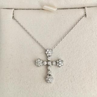 STAR JEWELRY - スタージュエリー ダイヤモンド ネックレス K18WG 0.24ct 3.8g