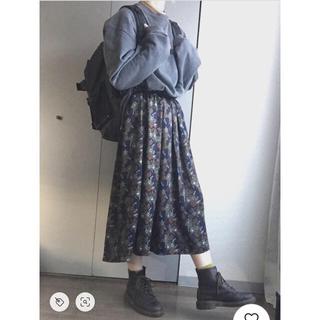 GU - 美品 GU ボタニカル柄ロングスカート S