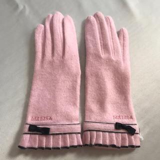 リズリサ(LIZ LISA)の★ LIZ LISA ★ リズリザ 手袋 リボン ピンク ブラック(手袋)