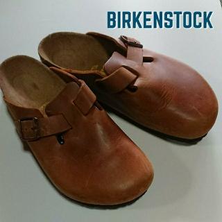 BIRKENSTOCK - ビルケンシュトック BIRKENSTOCK BOSTON 本革レザーサボサンダル