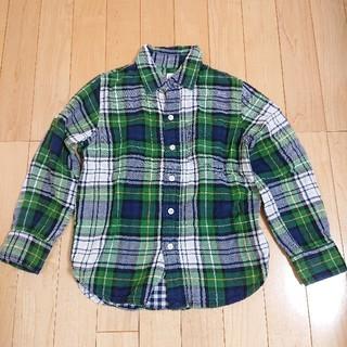ギャップキッズ(GAP Kids)のGAP KIDS ギャップ チェックシャツ グリーン 緑(Tシャツ/カットソー)