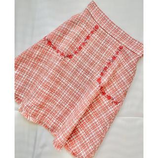 ジルスチュアート(JILLSTUART)のジルスチュアート *ツイードスカート(ひざ丈スカート)