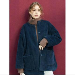 ミラオーウェン(Mila Owen)のミラオーウェン  完売 ノーカラーシャツカーブボアジャケット 未使用(ノーカラージャケット)