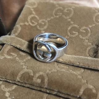 グッチ(Gucci)のGUCCI グッチ インターロッキング シルバー リング 7号(リング(指輪))