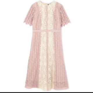 JILLSTUART - ジルスチュアート《Endy ROBE》アリッサレースワンピース ドレス ピンク