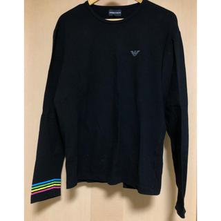 エンポリオアルマーニ(Emporio Armani)のEMPORIOARMANI アルマーニ ブランド  ブラック カラフル 虹色 (Tシャツ/カットソー(七分/長袖))