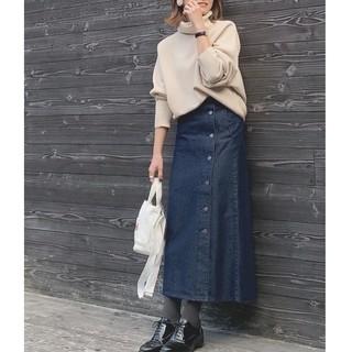 GU - 【GU】デニムサイドボタンロングスカート