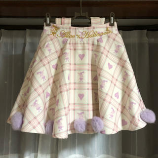 ボボンニジュウイチ(Bobon21)のアリスリボンサス付きスカート(ミニスカート)
