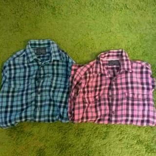 ユニクロ(UNIQLO)のネルシャツ 2枚セット Mサイズ(シャツ)