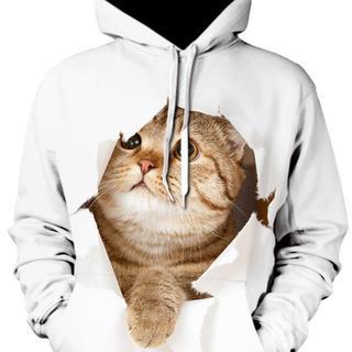 個性派★猫パーカー(パーカー)