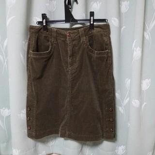 コーデュロイ スカート L(ひざ丈スカート)